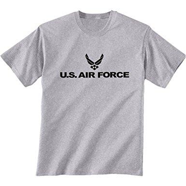 air force t shirts air force short sleeve t-shirt in gray - small QTSUJQB