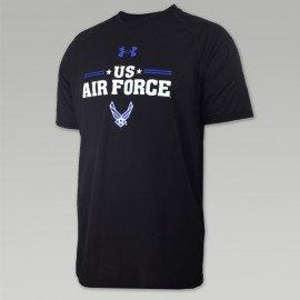 air force t shirts air force under armour stars tech t-shirt (black) FIJFCVH