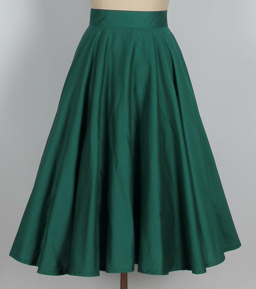 aline skirt a line retro skirt- green 015 CRHRIJE
