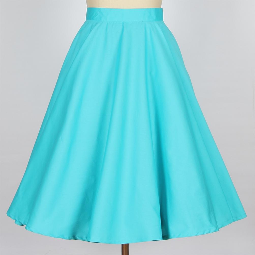 aline skirt a line retro skirt- tiffany blue MNIFPWT