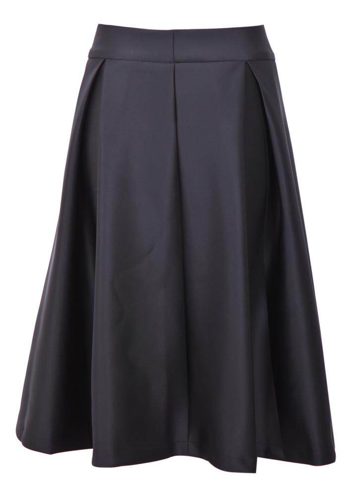 aline skirt black zipper ruffle a line skirt -shein(sheinside) KYBEDAQ