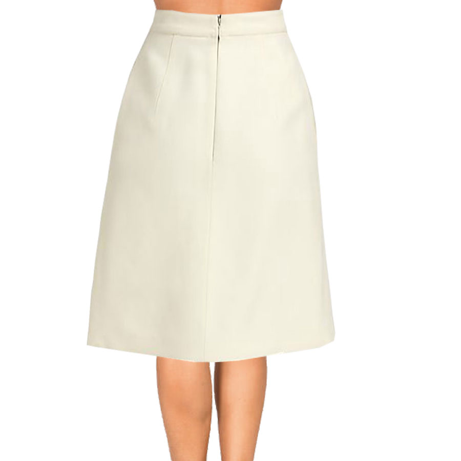 aline skirt cream inverted pleat a-line skirt SNVQWFC