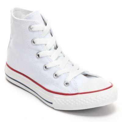 all white converse kidu0027s converse all star sneakers JQZYGVJ