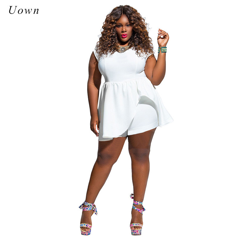 all white romper plus size womenu0027s solid all white jumpsuits short pant romper outfit casual  o BQVGECV