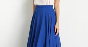 amelia full blue maxi skirt HRMGSAC