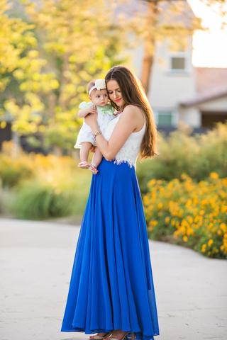 amelia full blue maxi skirt QXNUTJY