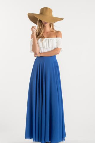 amelia full blue maxi skirt ZMNNXUR