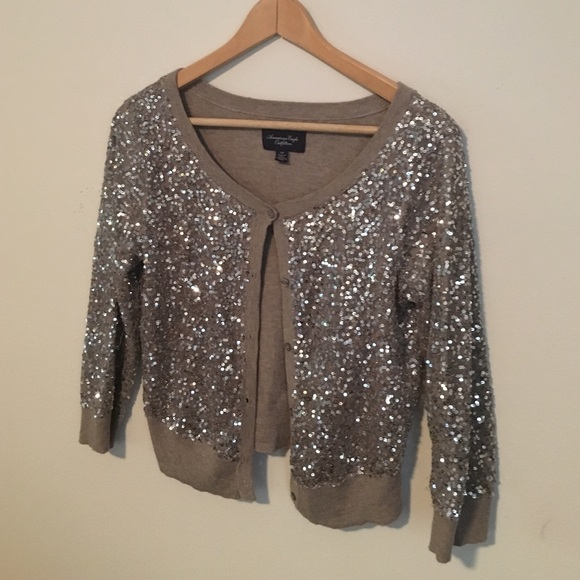 american eagle outfitters sweaters - sequin cardigan - champagne OLEDQXF