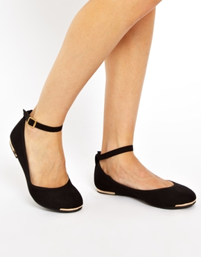 ankle strap shoes ankle strap flat shoes with metal detail HEUETYU