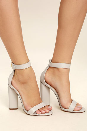 ankle strap shoes kamali grey ankle strap heels RJOUXDU
