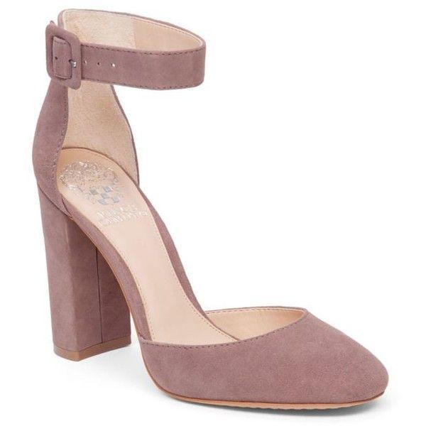 ankle strap shoes vince camuto mystery mauve shaytel block heel pump - womenu0027s ($119) ❤ liked TCXODBE