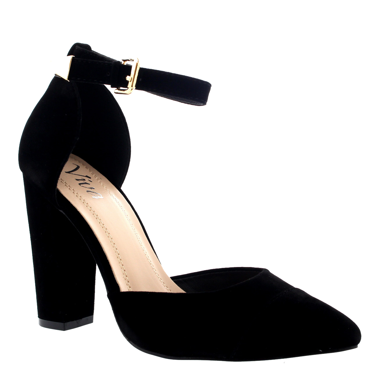 ankle strap shoes womens office evening pumps ankle strap pointed toe sandal high heels us  5-12 CTEMPXM