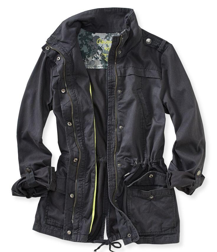 anorak jackets solid full-zip anorak jacket from aeropostale DTKMKIF
