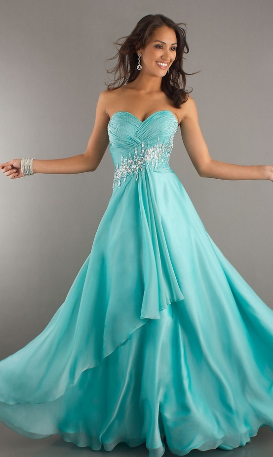 aqua dresses find this pin and more on prom 2k15❤ . strapless aqua dress ... OCBMPHD