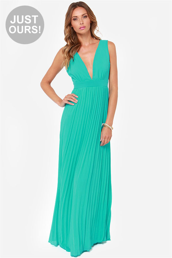 aqua dresses gorgeous maxi dress - aqua maxi dress - pleated dress - teal maxi dress XHCQYUR