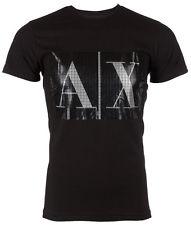 armani t shirt armani exchange ax men t-shirt box logo slim black casual designer $45  jeans GZEZMLP
