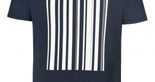 armani t shirt armani print t-shirts men barcode print cotton crew neck t-shirt FSXHXKH