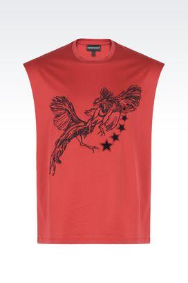 armani t shirt armani t-shirts men sleeveless t-shirt with embroidery and appliqués KBOGDKU