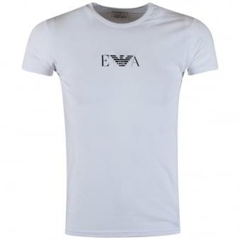 armani t shirt emporio armani white large logo t-shirt RRLQXEK