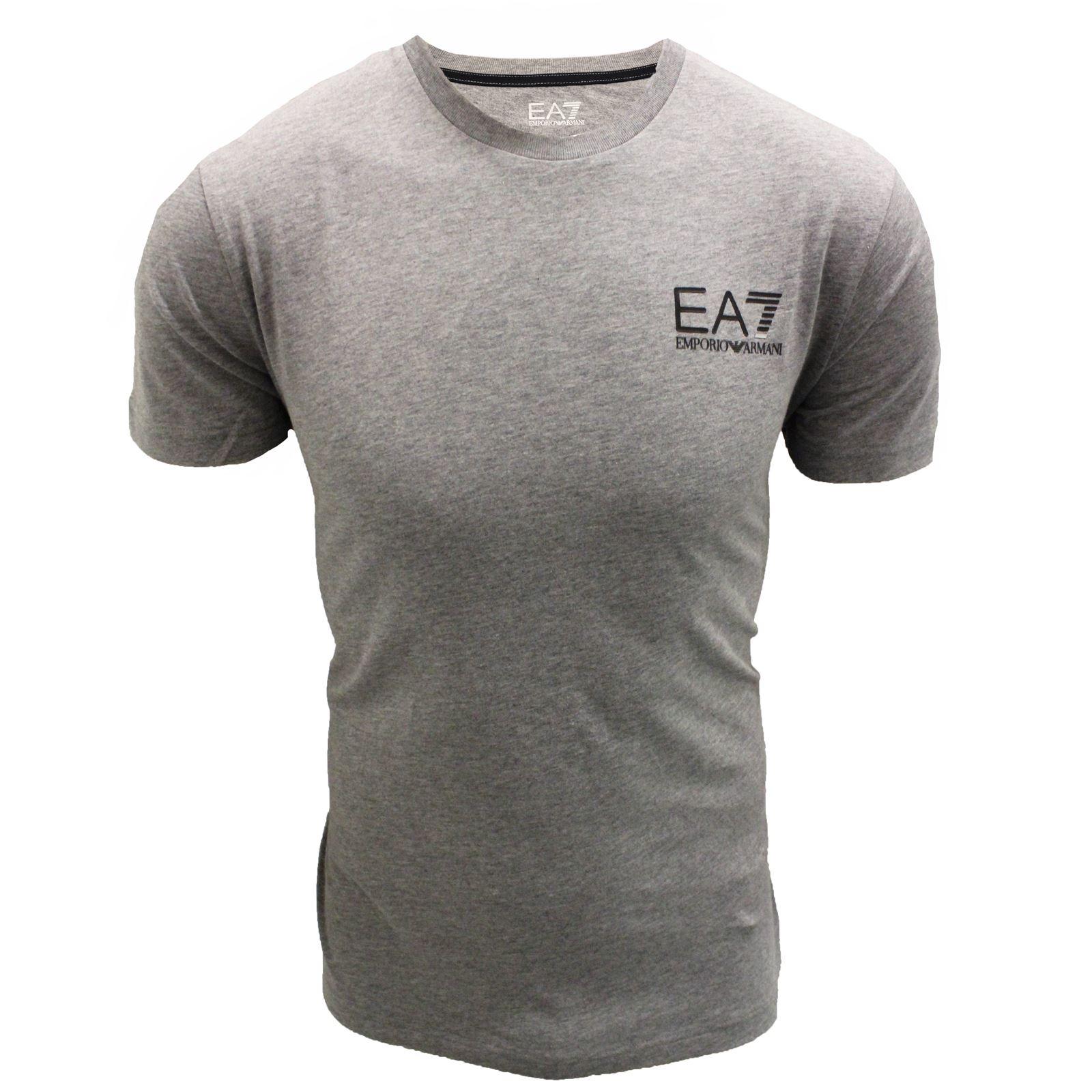 armani t shirt image is loading emporio-armani-t-shirt-ea7-mens-grey-crew- IDDNPYQ