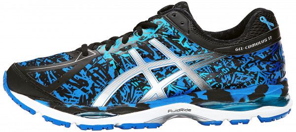 asics cumulus ... asics gel cumulus 17 men electric blue/silver/blue ribbon ... XHCZNMW