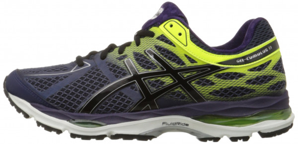 asics cumulus ... asics gel cumulus 17 men indigo blue/black/flash yellow ... GWVWAFZ