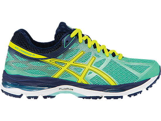 asics cumulus gel-cumulus 17 | women | aqua mint/flash yellow/navy | asics us XDVKOMF