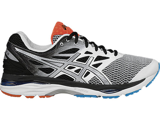 asics cumulus gel-cumulus 18 | men | white/silver/black | asics us ICONNDU
