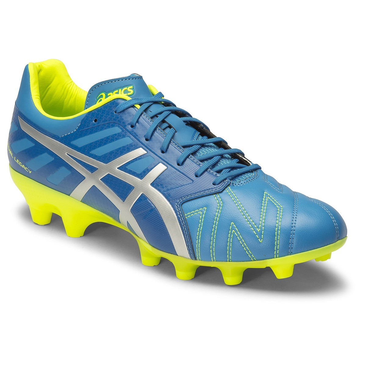 asics football boots asics lethal legacy sk - mens football boots - methyl blue/silver/flash  yellow EDDELZN