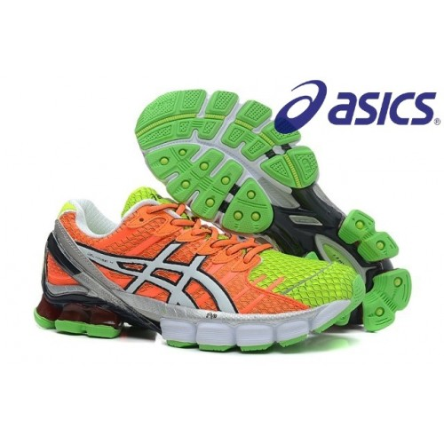 asics kinsei 4 asics gel kinsei 4 womens shoes orange/green JFUQYIQ