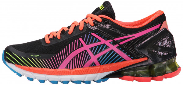 asics kinsei ... asics gel kinsei 6 woman black/hot pink/flash yellow ... AFWVJGD