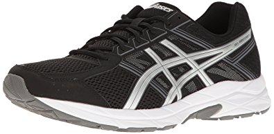 asics mens running shoes asics menu0027s gel-contend 4 running shoe, black/silver/carbon, 6 TJPBZDM