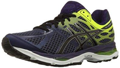 asics mens running shoes asics menu0027s gel cumulus 17 running shoe, indigo blue/black/flash yellow, GIFMWNT