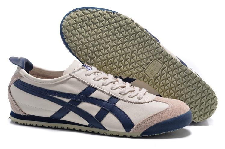 Asics Onitsuka (beige/ dk blue) onitsuka tiger mexico 66 dl408-1659 new shoes TVSYRHC