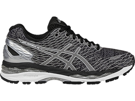 asics shoes gel-nimbus 18 lite-show | women | black/silver/shark | asics us BAWQJRM