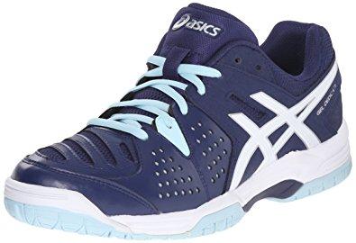 asics tennis shoes asics womenu0027s gel-dedicate 4 tennis shoe, indigo blue/white/crystal blue UHJMDCA