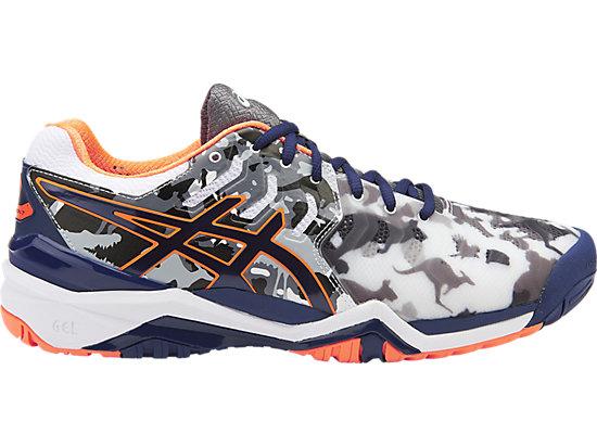 asics tennis shoes gel-resolution 7 l.e.melbourne | men | white/indigo blue/hot orange | asics  gb UGPXZMN