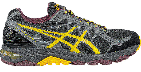 asics trabuco ... asics gel fujitrabuco 4 men black/spectra yellow/royal burgundy ... YEEGGTM