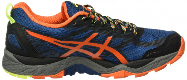 asics trabuco ... asics gel fujitrabuco 5 men azul (poseidon/flame orange/safety yellow)  ... NAHAYIP