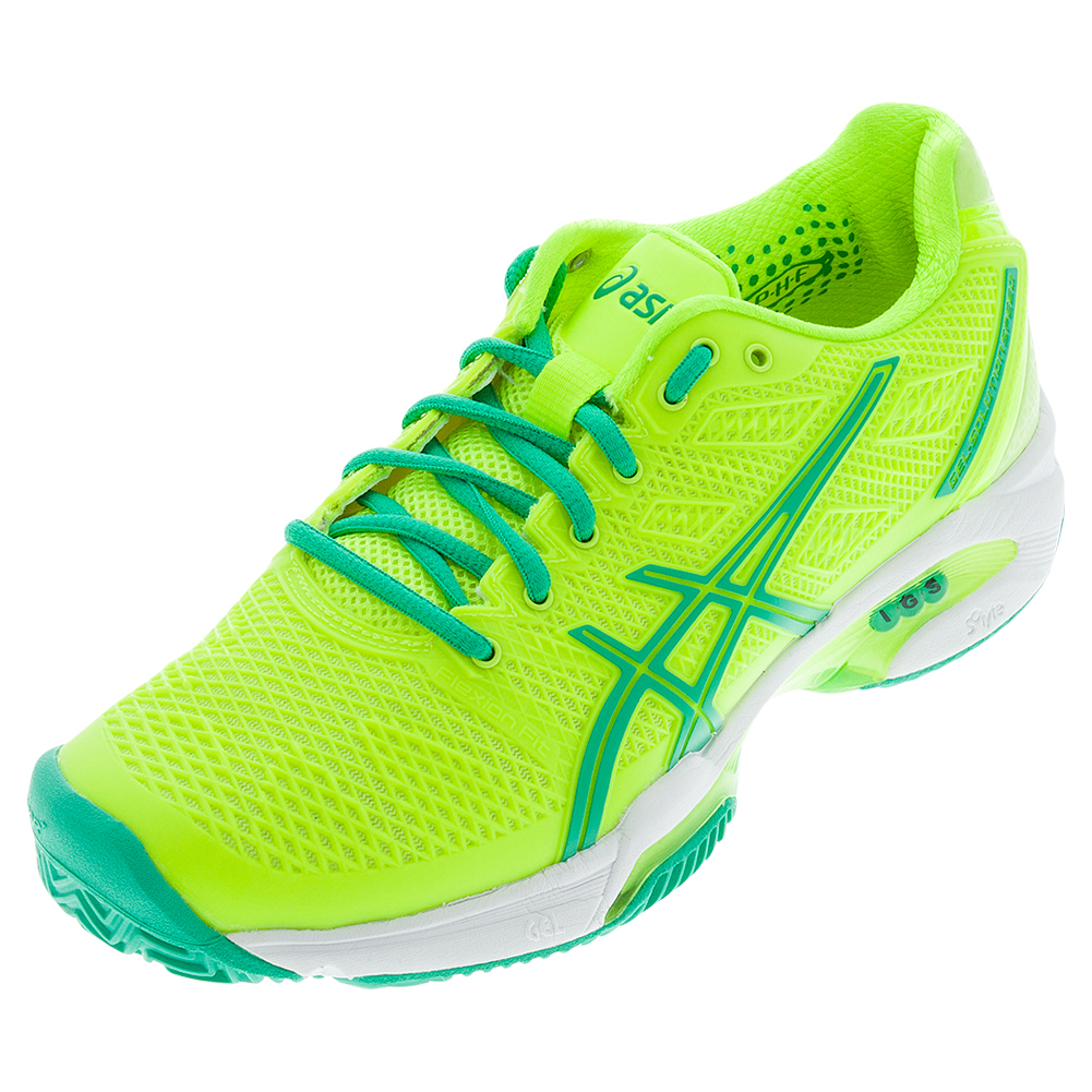asics womens shoes asics asics womenu0027s gel- solution speed 2 tennis shoes flash yellow and mint DZQUTUM