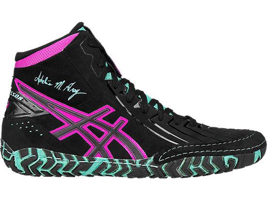 asics wrestling shoes aggressor 3 l.e. ag | men | black/onyx/pink glow | asics us XDKBHSQ
