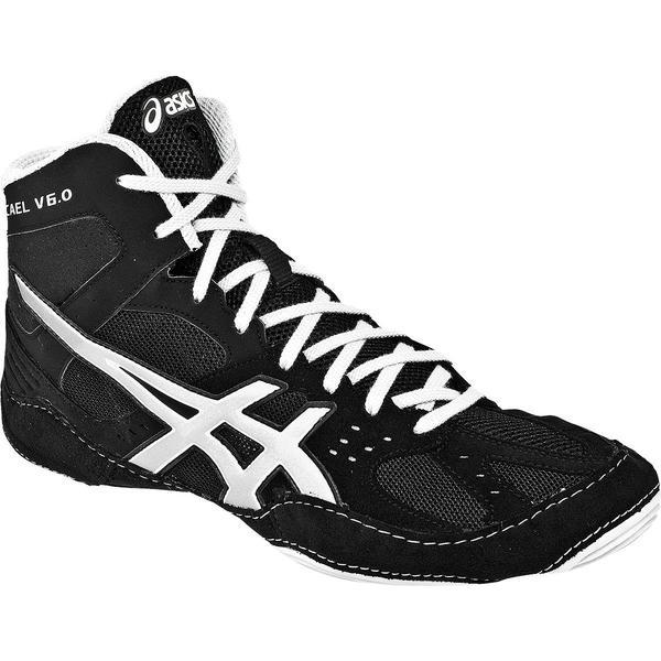asics wrestling shoes asics cael v6.0 black silver wrestling shoes EGYRHAS