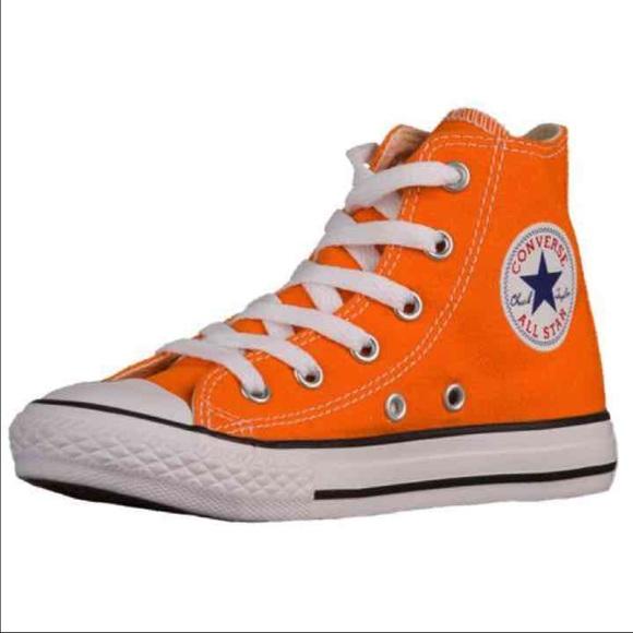 authentic orange converse all star chuck taylor EJVINOW