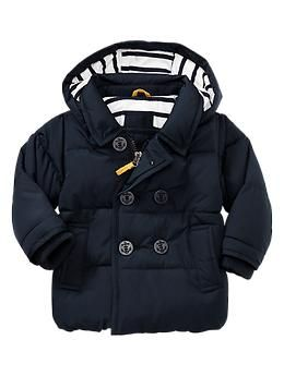 baby boy coats warmest puffer peacoat from baby gap. canu0027t fit in carseat with this jazz EHKOCXH