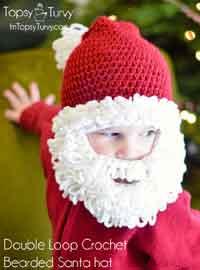 baby crochet hats crochet santa beard hat pattern VJYKFBS