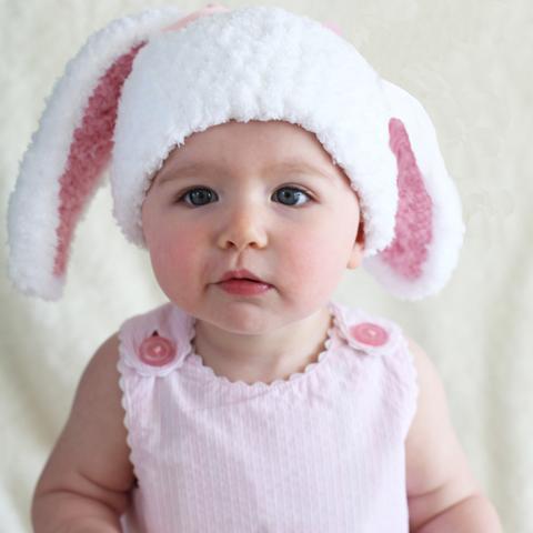 baby girl hats bunny bop baby girl hat PVCEPVA