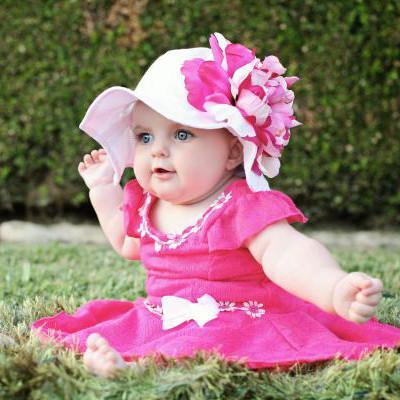 baby girl hats ... coconut sorbet baby girl sun hat TARFNRM