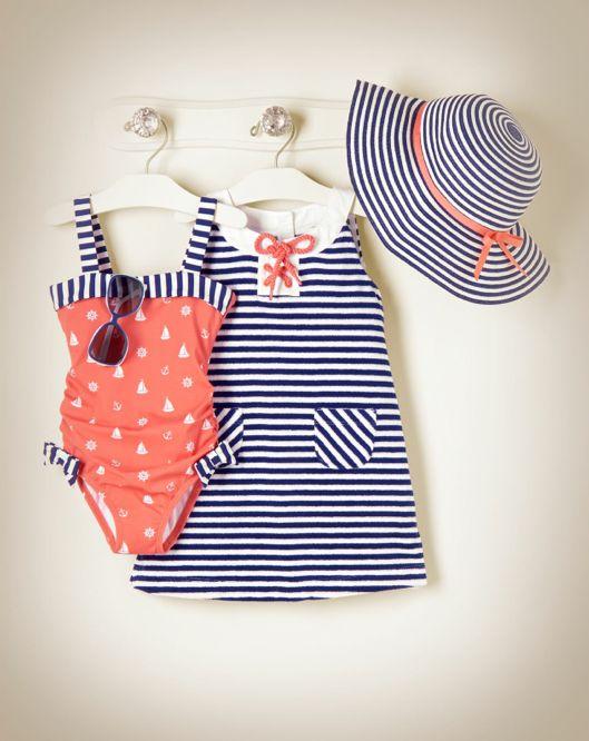 baby girl swimsuits nautical swimsuit u0026 dress... so freakin cute! nautical swimsuitbaby girl ... ZJQPLER