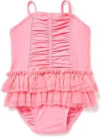 baby girl swimsuits ruched tutu swimsuit for baby DZGVJHL