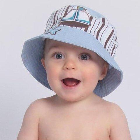 baby sun hats ... baby blue sail boat baby sun hat ... VTPQYFH
